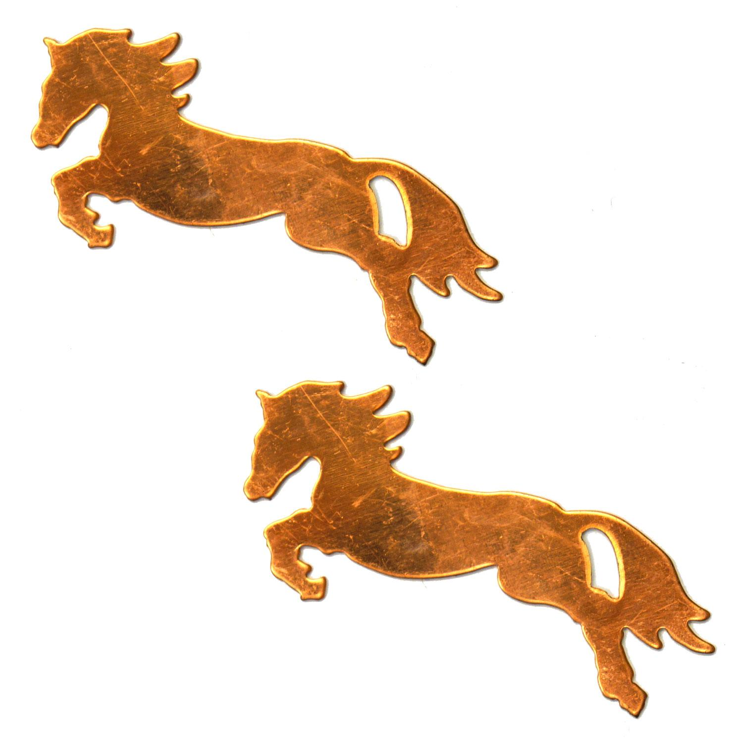 Jumping Horse Copper Shape - 2 Pack