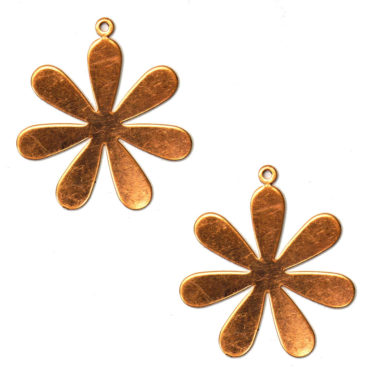 Large Daisy Copper Shape with Tab - 2 Pack