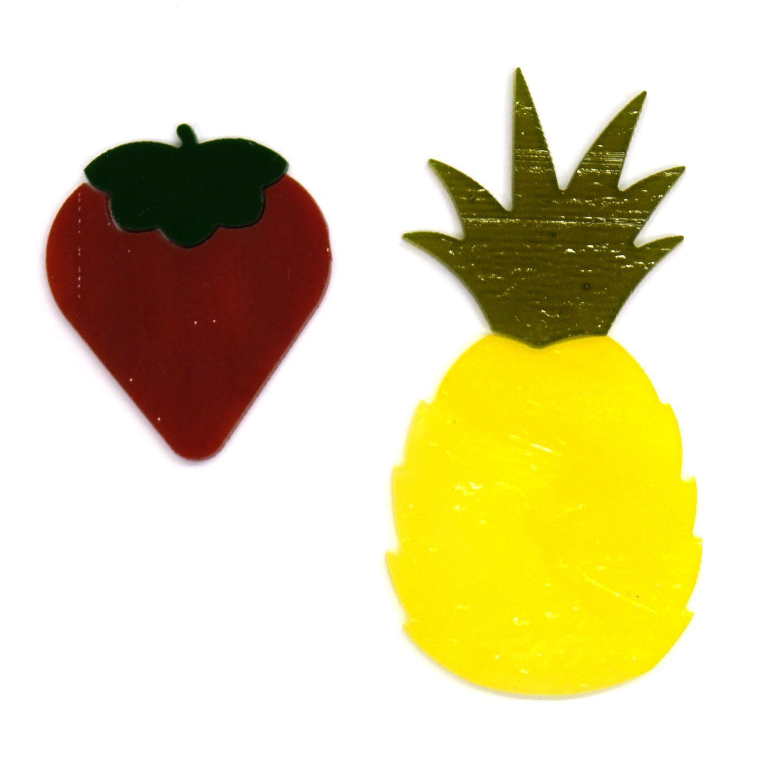 Strawberry and Pineapple Fusible Pre-Cut 2 Pack - 96 COE
