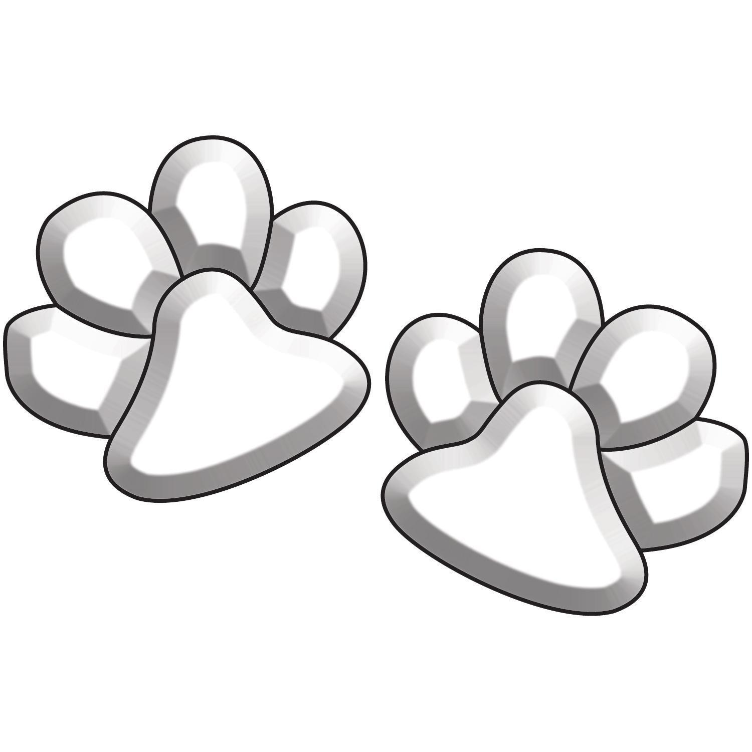 Paw Prints Bevel Clusters