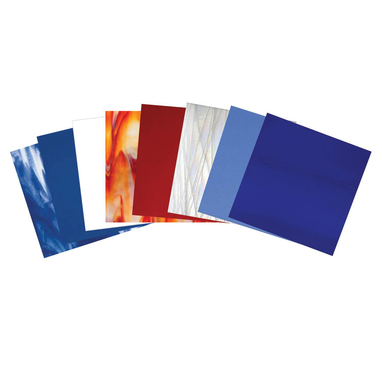 Bullseye Patriotic Bargain Glass Pack - 90 COE