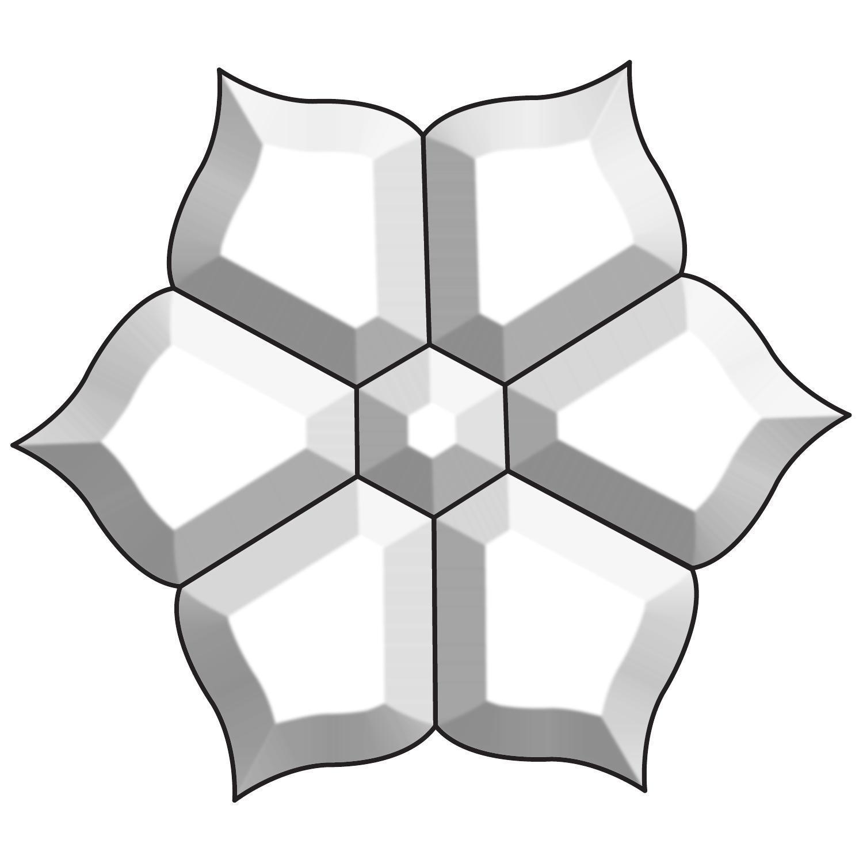 Flower Bevel Cluster