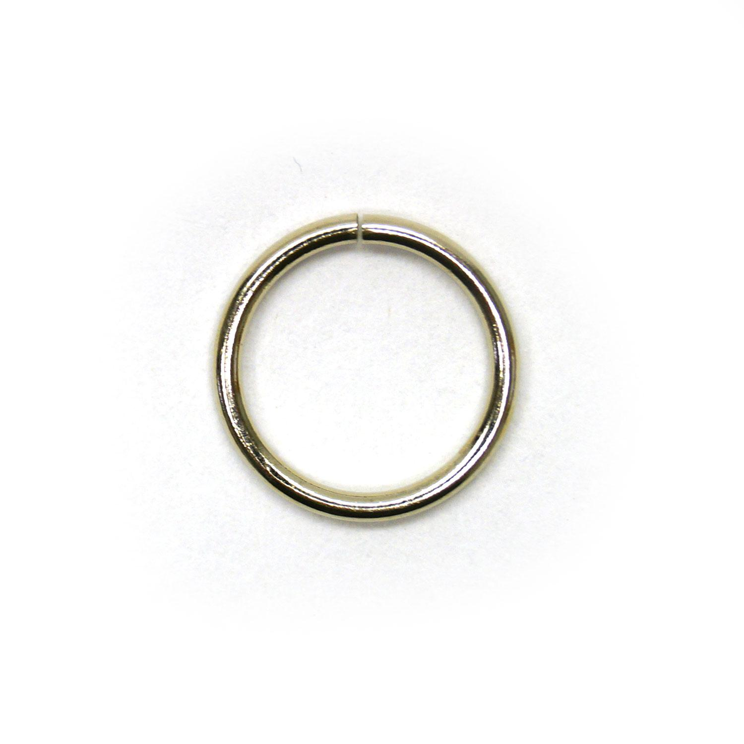 3/8 Nickel Jump Rings - 50 Pieces