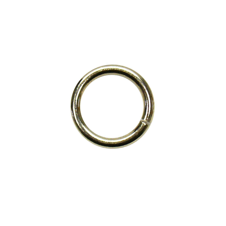 1/4 Nickel Jump Rings - 50 Pieces