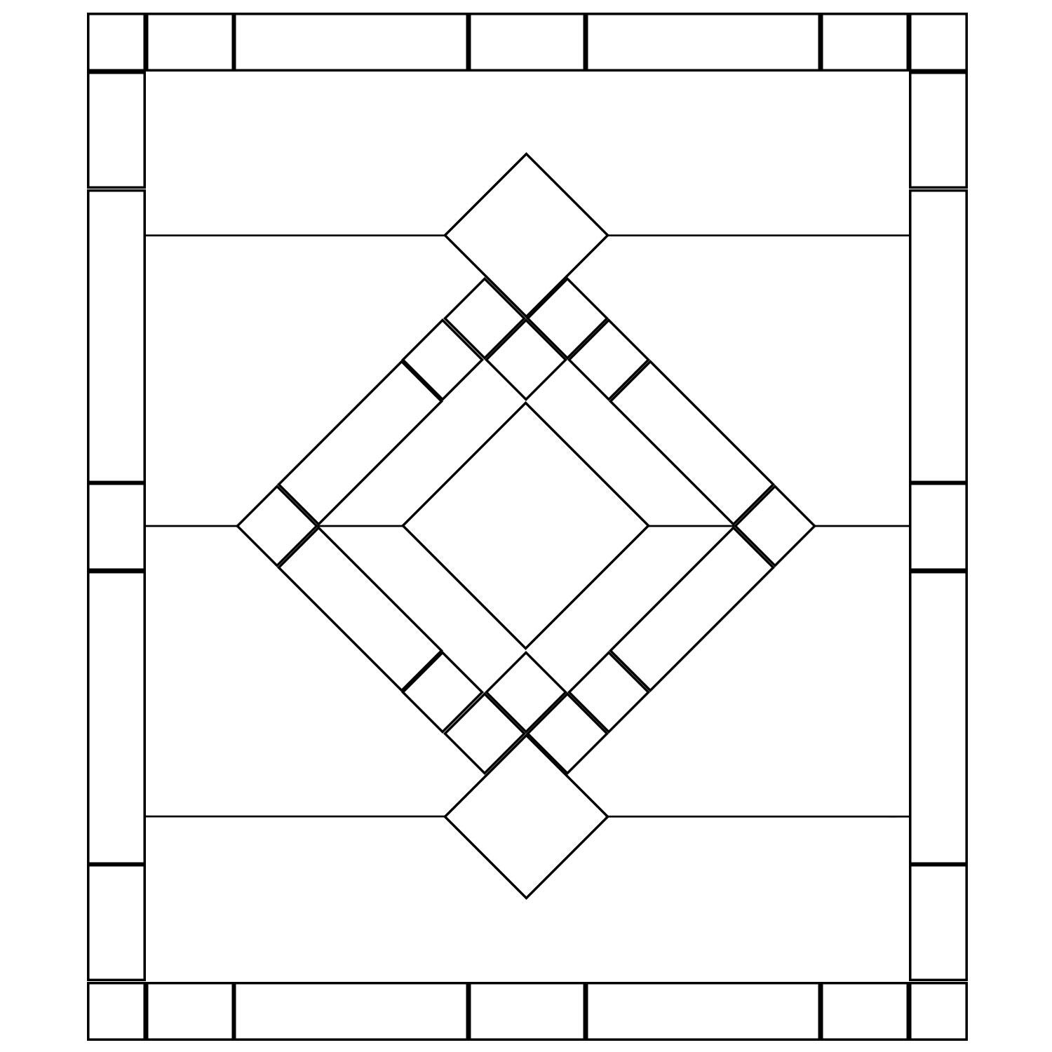 Free Beveled Glass Panel Pattern