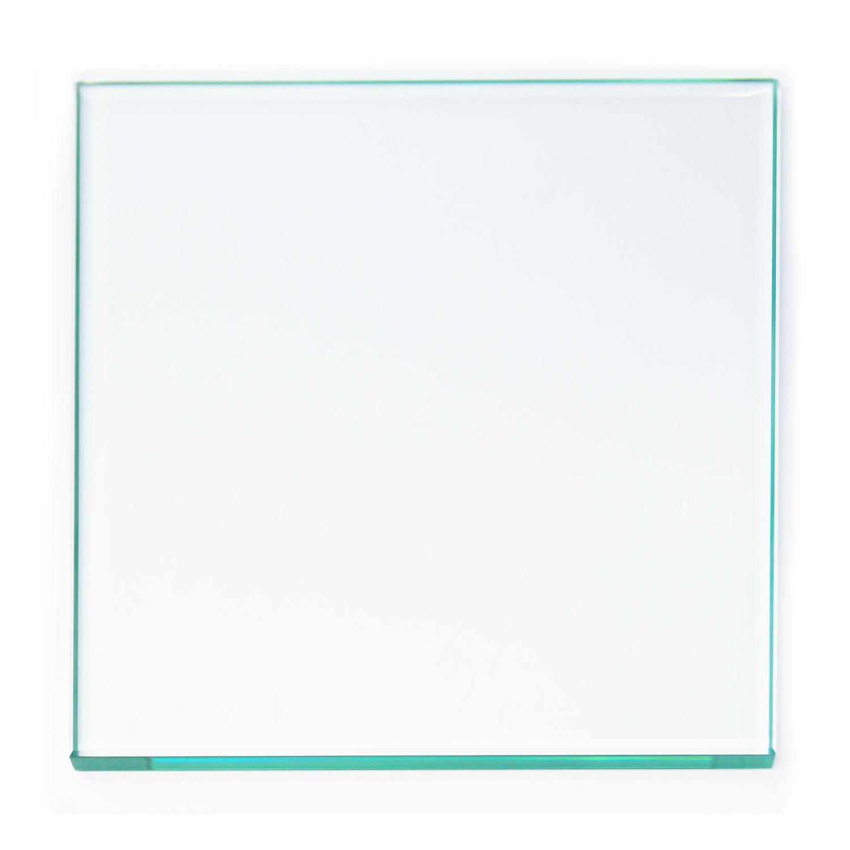 8 Square Polished Edge Beveled Float Glass