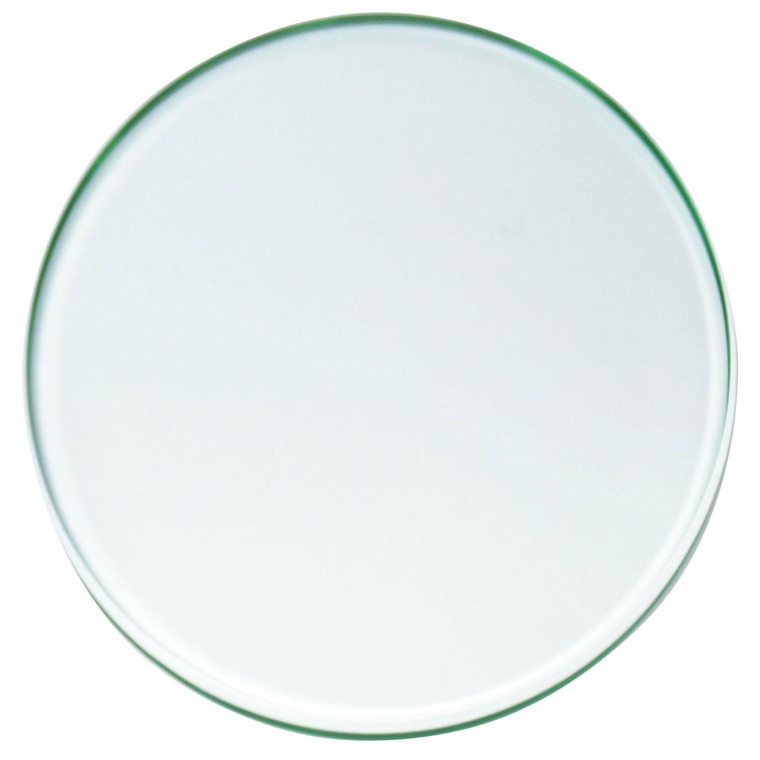 12 Circle Polished Edge Beveled Float Glass