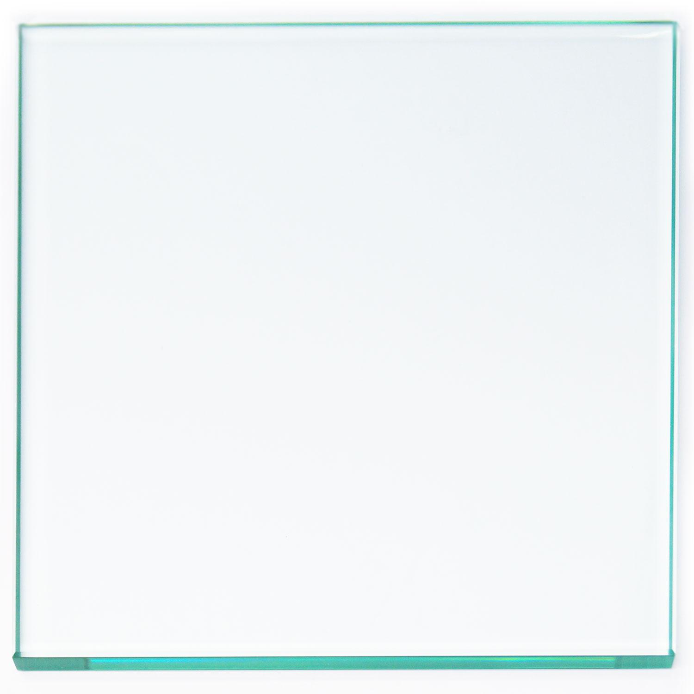 12 Square Polished Edge Beveled Float Glass