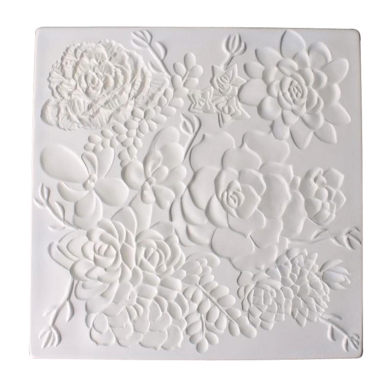 8-3/4 Square Succulent Texture Mold