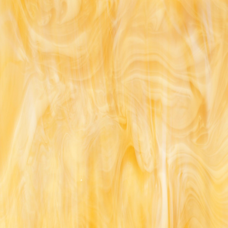 Oceanside Light Amber and White Semi-Wispy - 96 COE