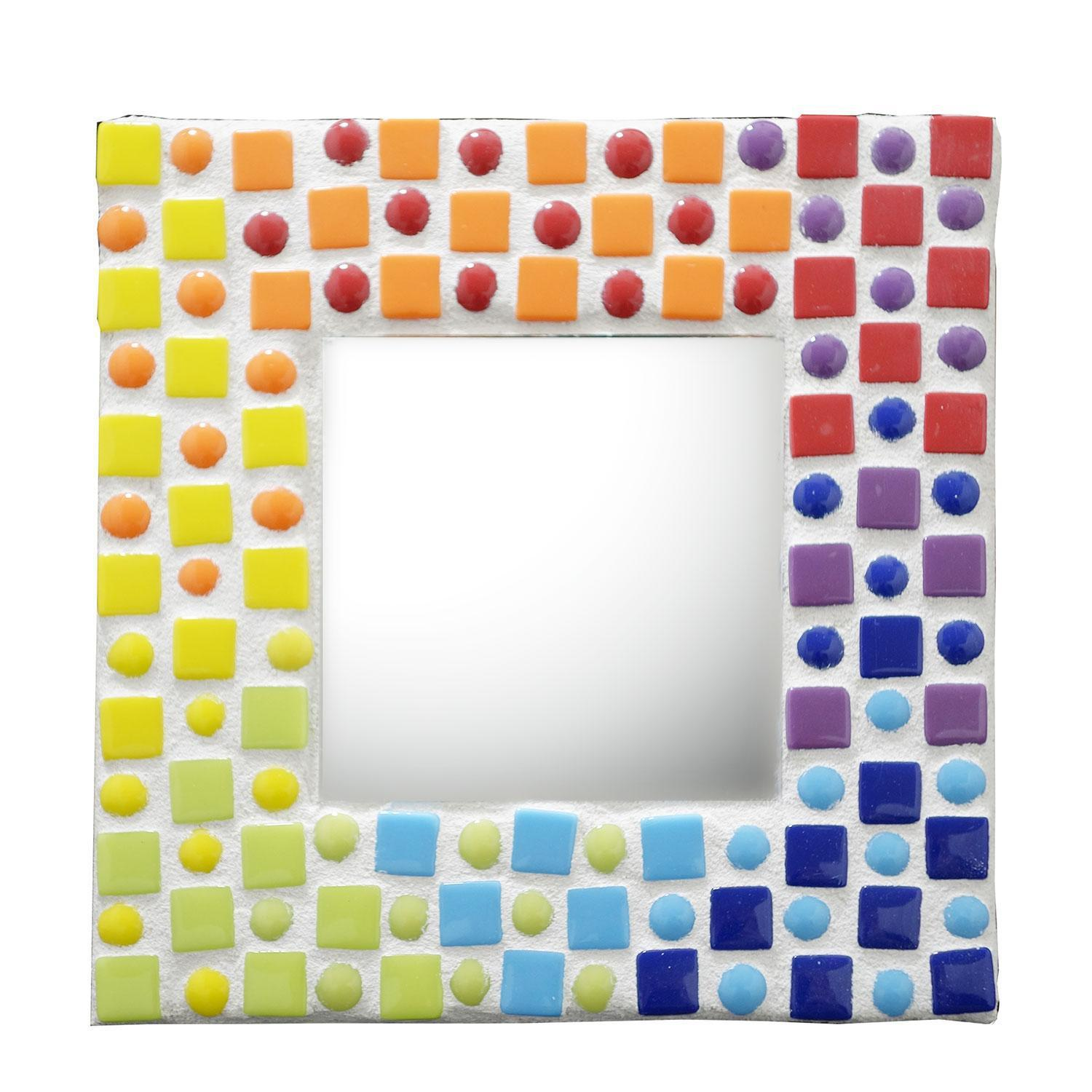 Free Cascading Rainbow Mosaic Mirror Project Guide