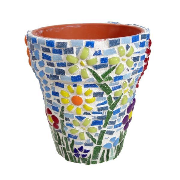 Free Mosaic Flower Pot Project Guide
