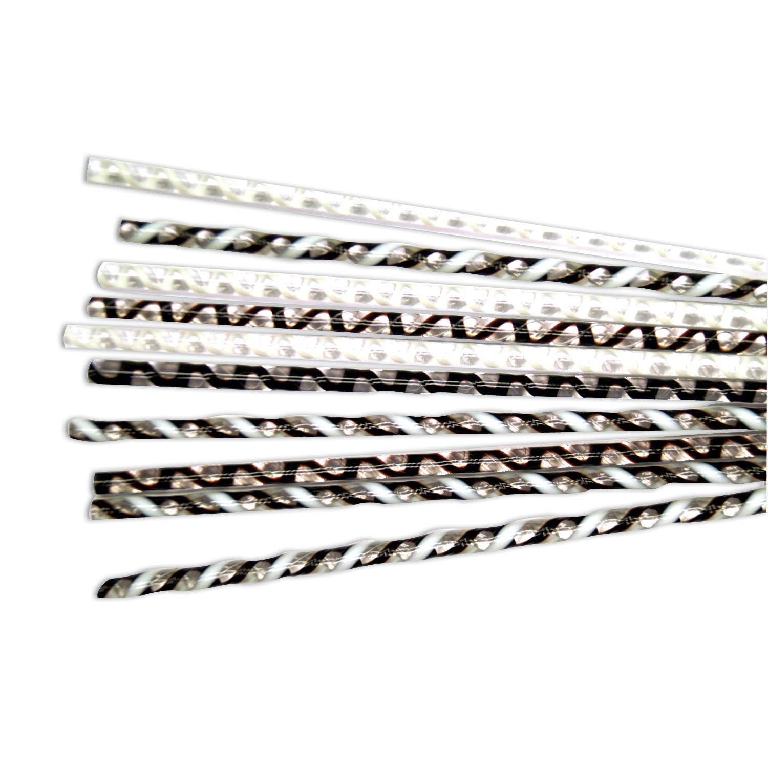 Tuxedo Twisted Cane Assortment - 96 COE