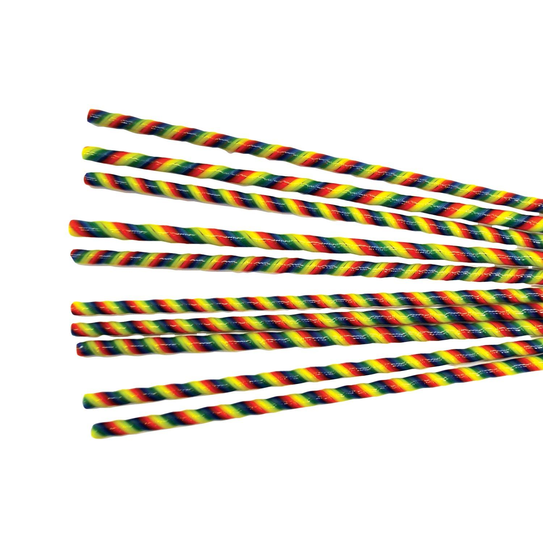 Rainbow Stripe Twisted Cane Pack - 90 COE