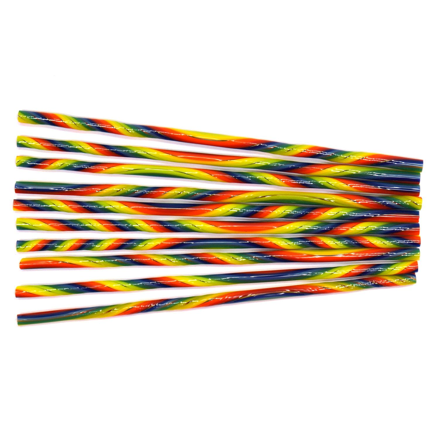 Rainbow Stripe Double Twisted Cane Pack - 90 COE
