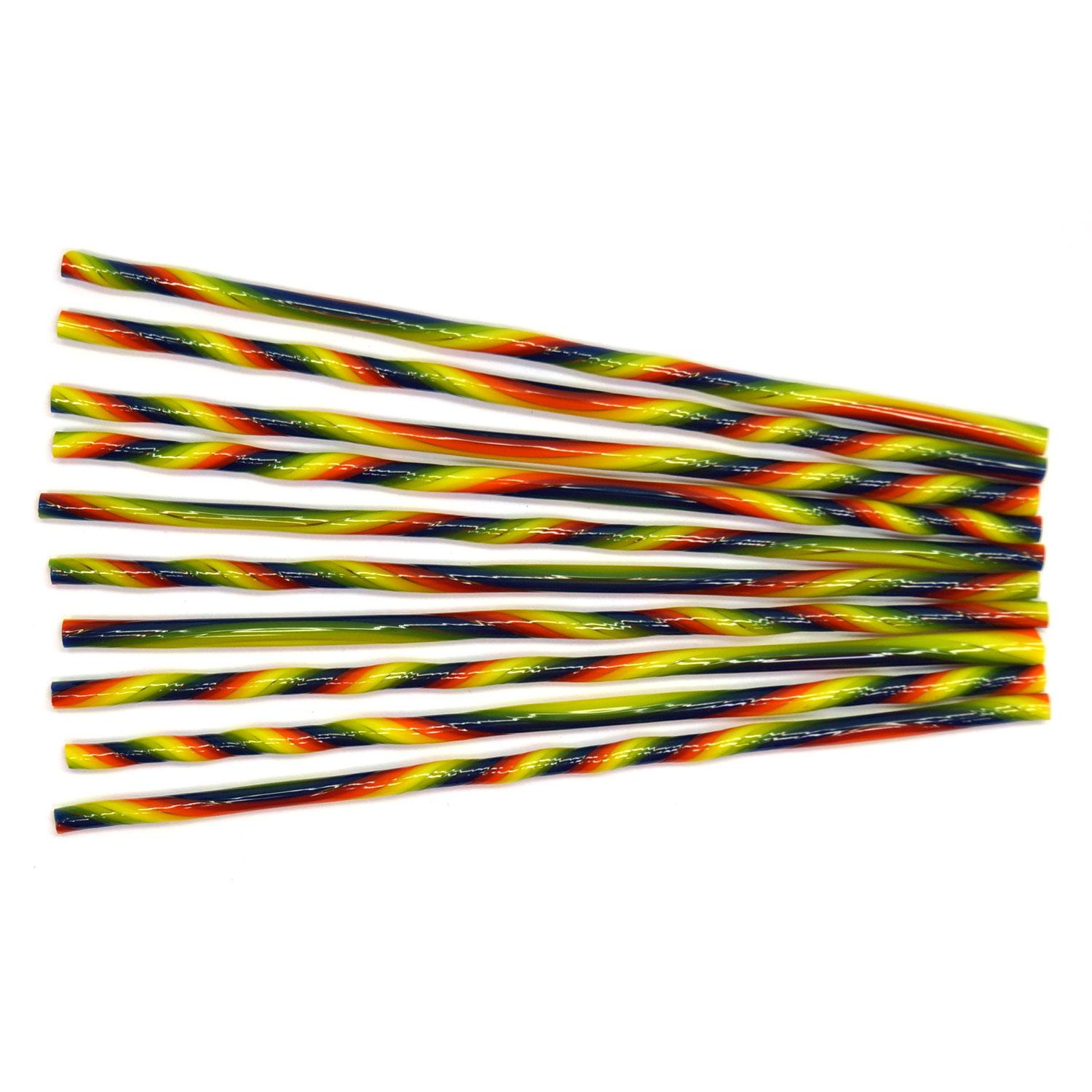 Rainbow Stripe Double Twisted Cane Pack - 96 COE