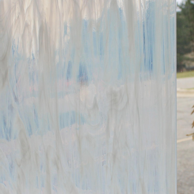 Oceanside Clear & Feather White Semi-Wispy - 96 COE