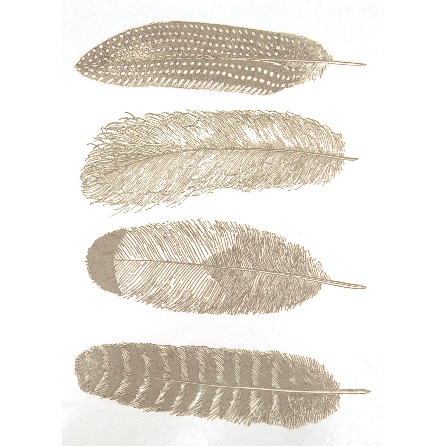 Silver Feather Decals