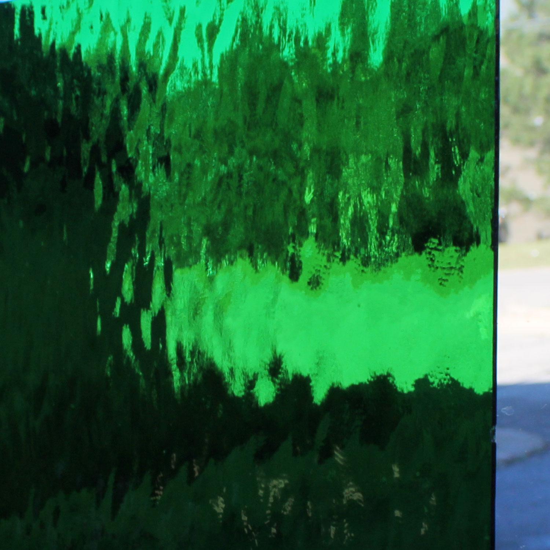 Oceanside Medium Green Transparent Waterglass