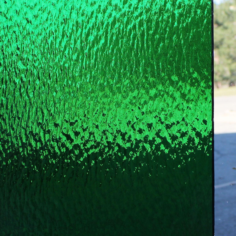 Oceanside Medium Green Transparent Rough Rolled