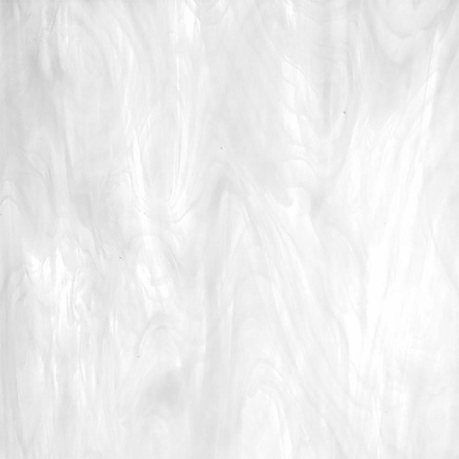 Oceanside Clear & White Translucent Wispy - 96 COE