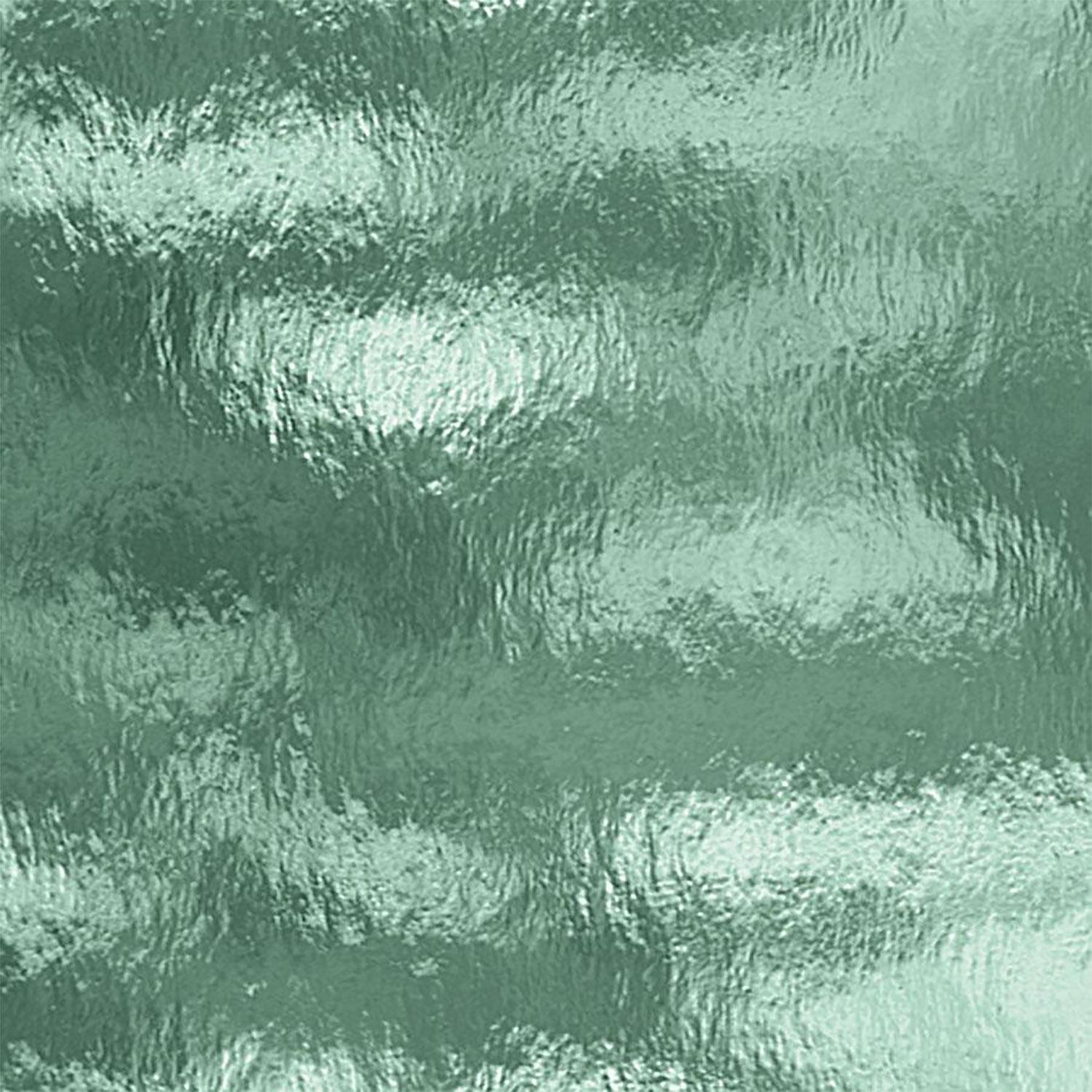 Oceanside Sea Green Transparent Rough Rolled