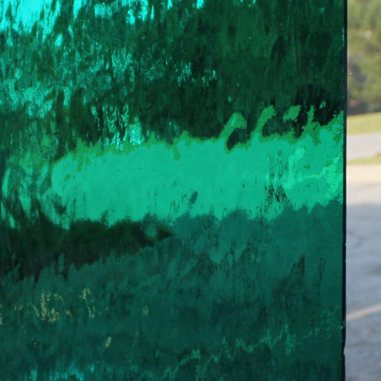 Oceanside Teal Green Transparent Waterglass
