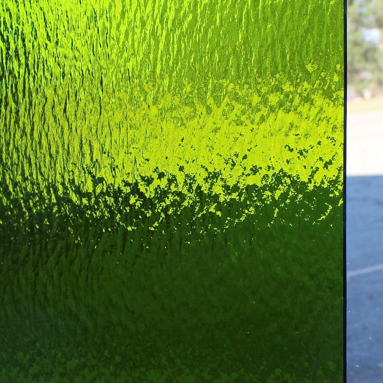 Oceanside Moss Green Transparent Rough Rolled