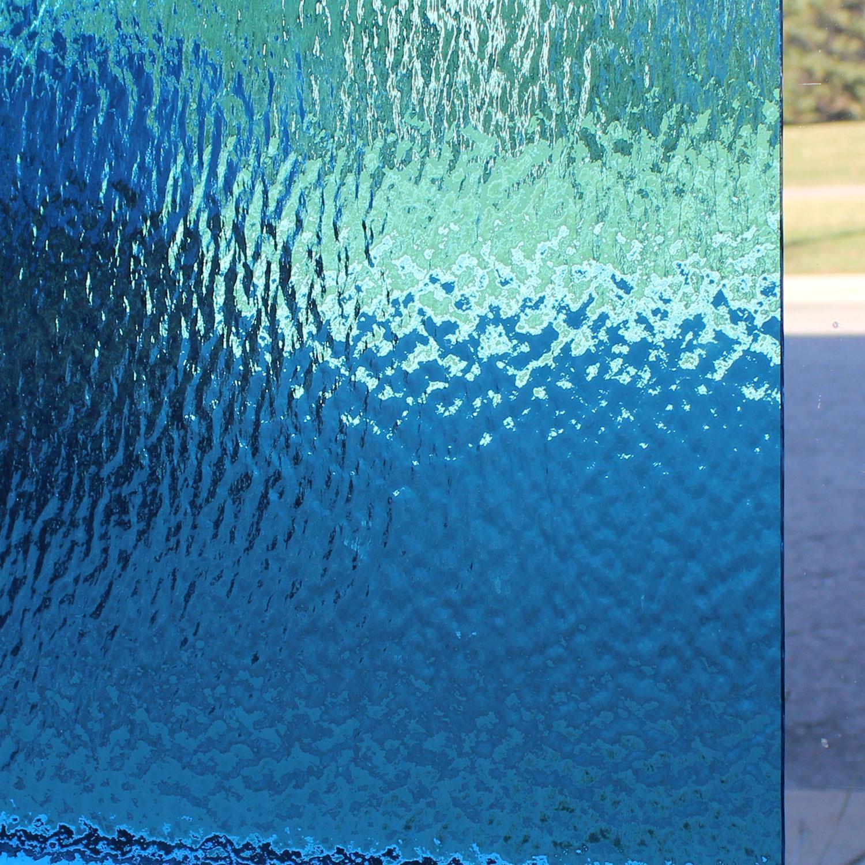 Oceanside Sky Blue Transparent Rough Rolled