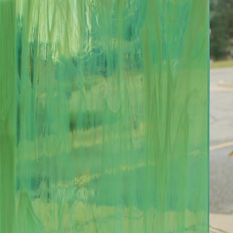Oceanside Pale Green & White Wispy - 96 COE