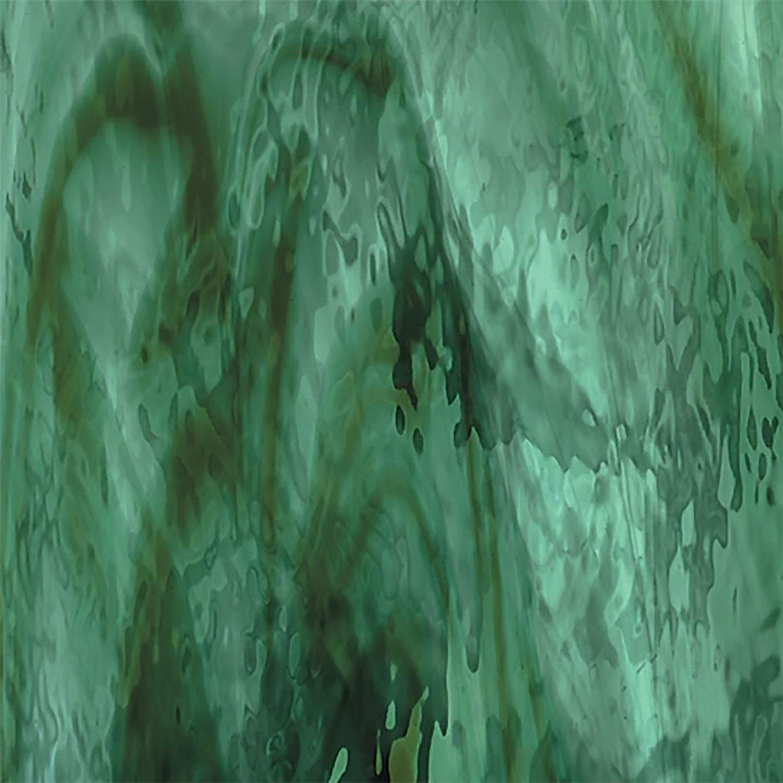 Oceanside Deep Olive, Sea Green Streaky Transparent Waterglass