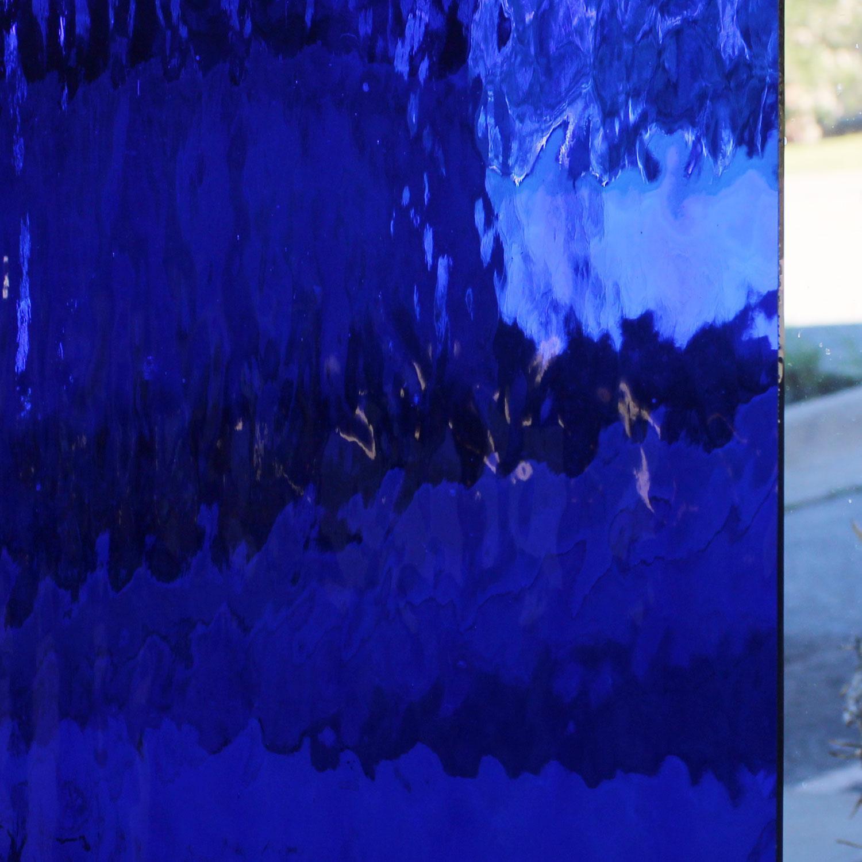 Oceanside Dark Blue Transparent Waterglass