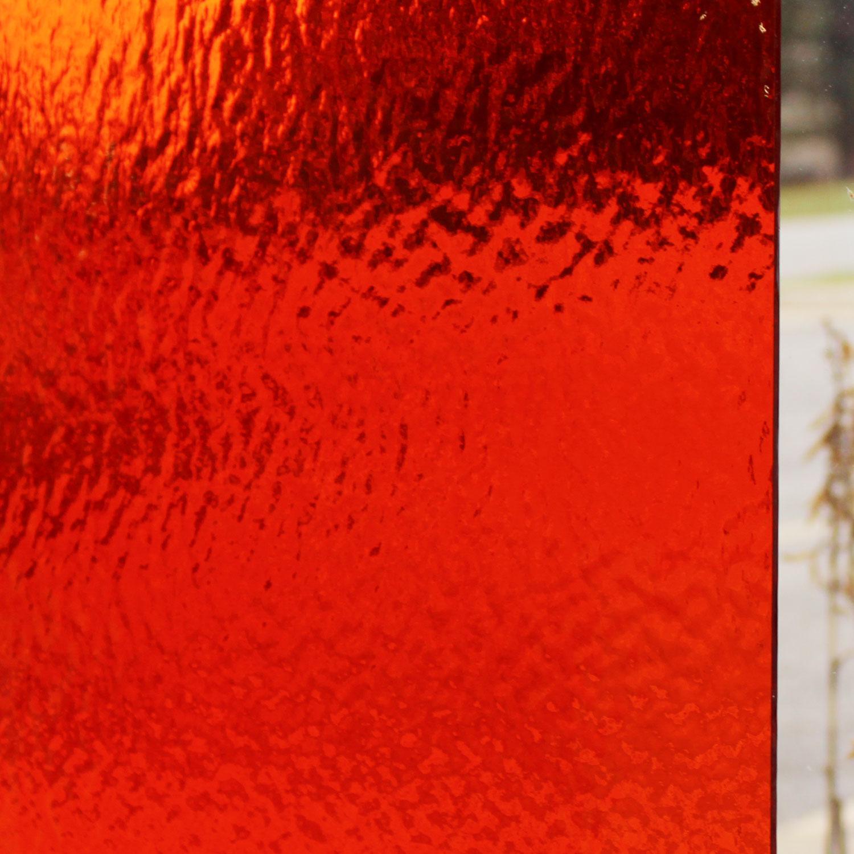 Oceanside Orange Transparent Rough Rolled