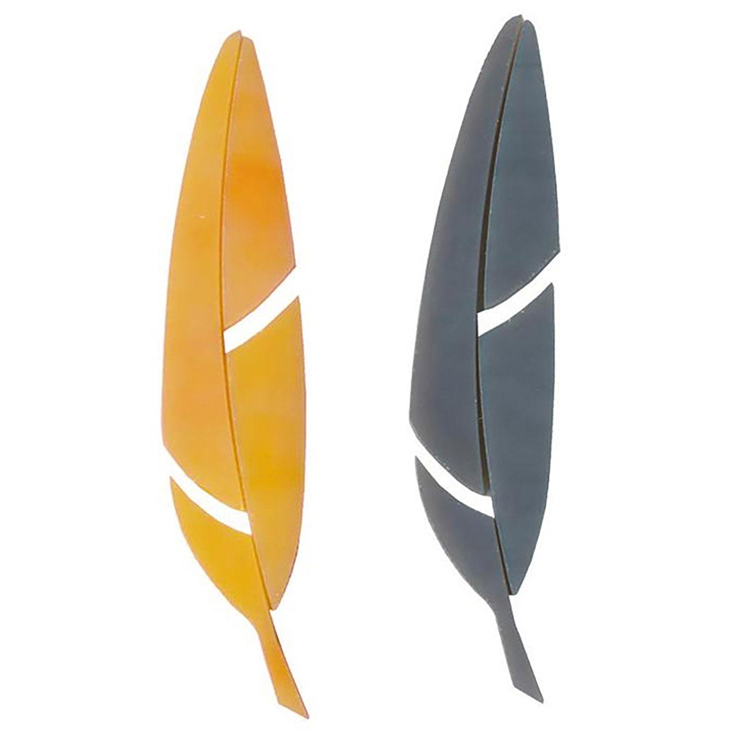 Orange and Gray Fusible Feathers Pre-Cut 2 Pack - 90 COE