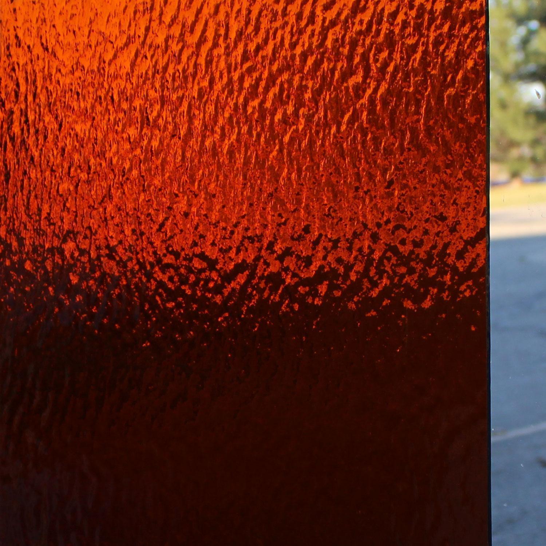 Oceanside Dark Amber Transparent Rough Rolled