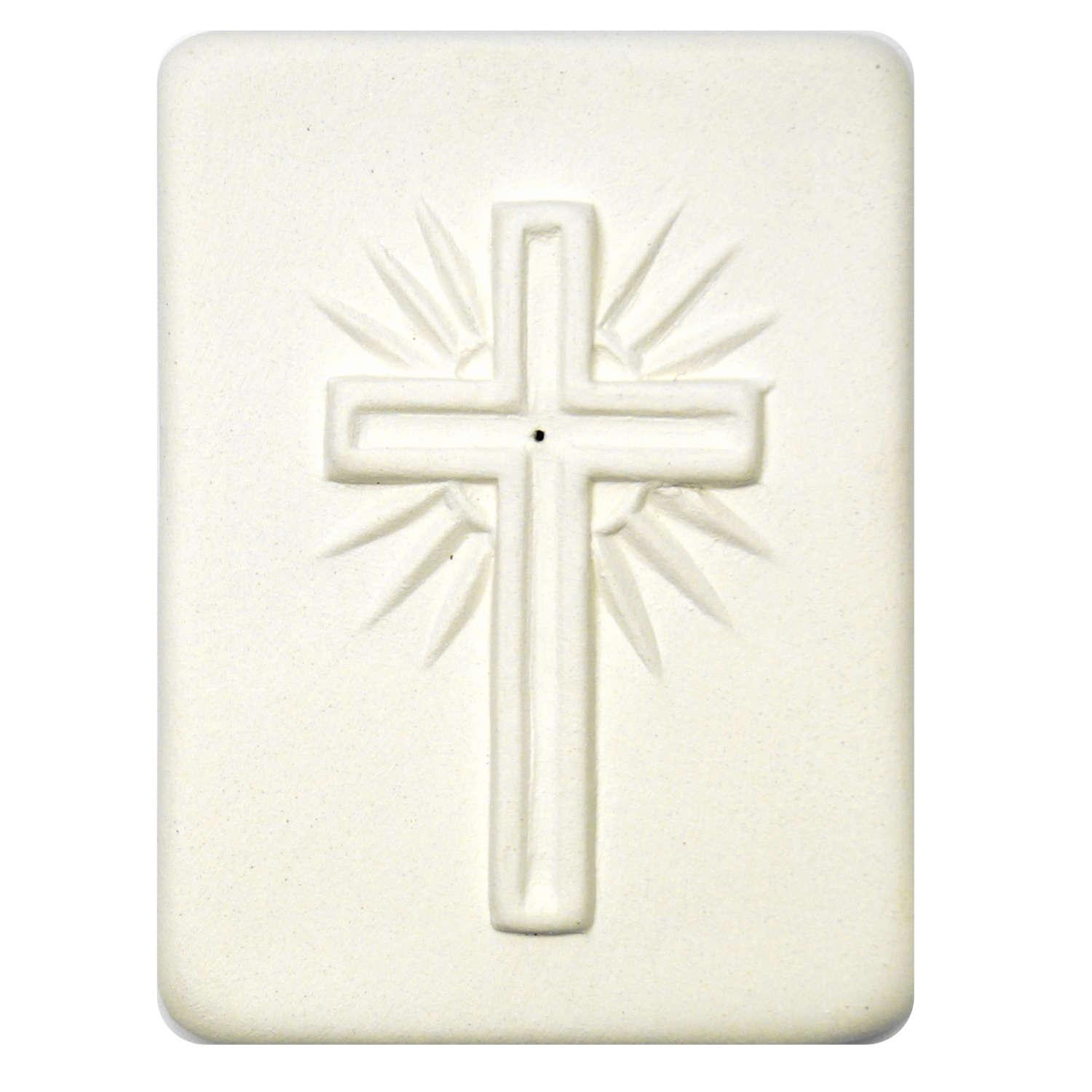 Delphi Studio Cross with Rays Impression Tile