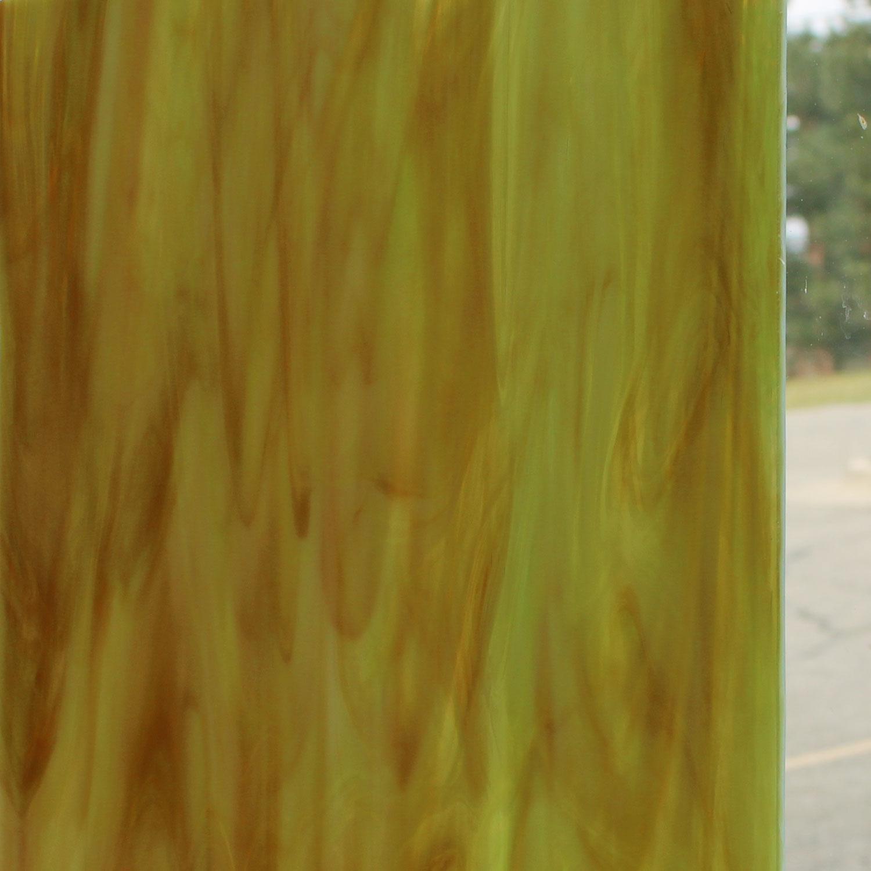 12 x 12 Oceanside Amber, Green, White Opal Streaky - 96 COE