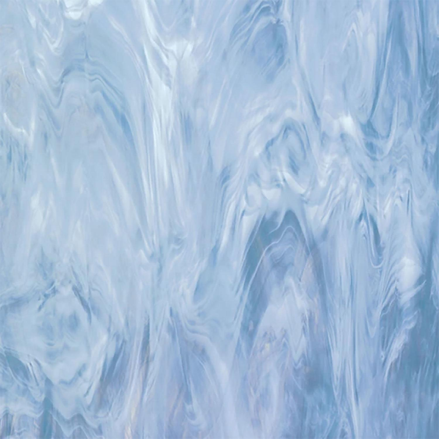 12 x 12 Oceanside Colonial Blue And White Translucent Streaky - 96 COE