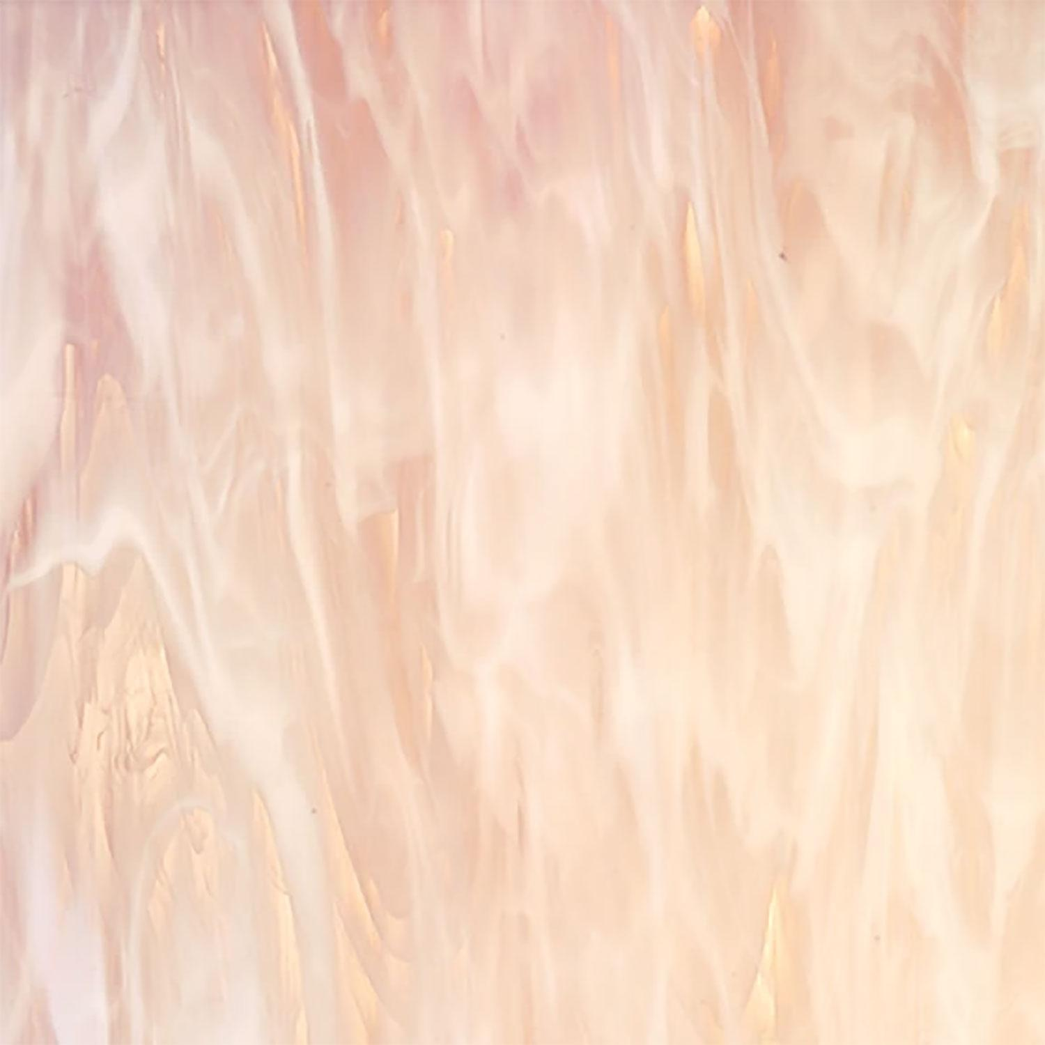 12 x 12 Oceanside Pink Champagne And White Semi-Wispy - 96 COE