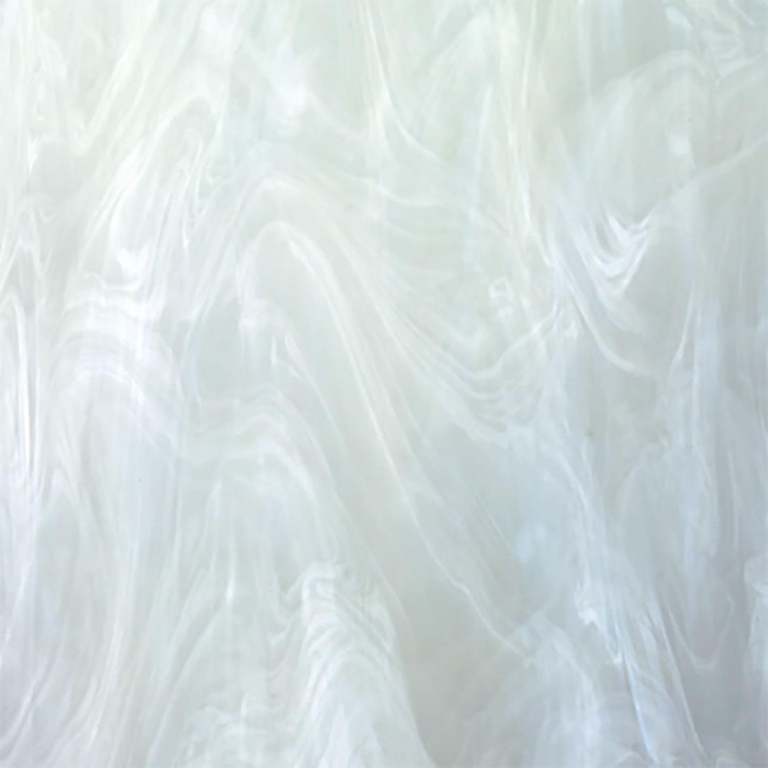 Oceanside White & Clear Translucent Wispy - 96 COE