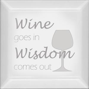 Delphi Studio Wine And Wisdom Engraved Bevel