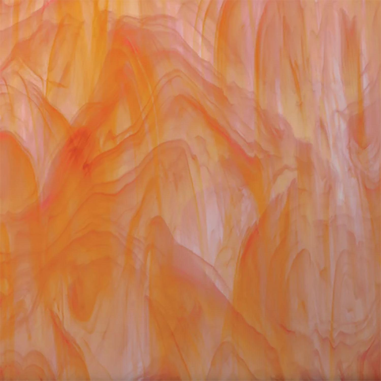 Oceanside White and Orange Opal Streaky - 96 COE