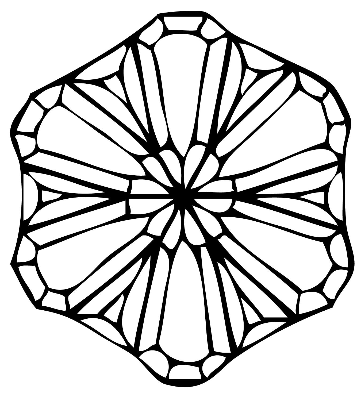 Large Snowflake Bevel Cluster