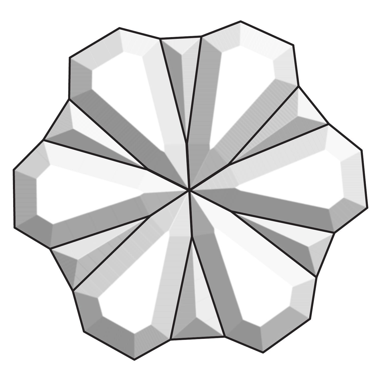 Small Pom Pom Bevel Cluster