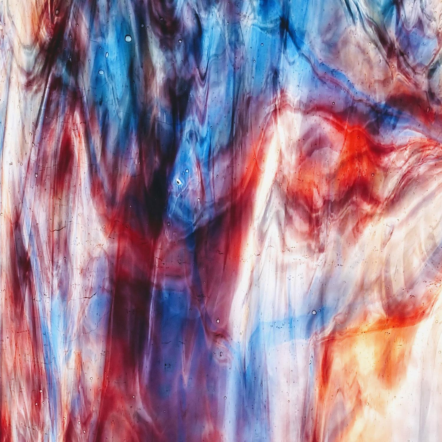 Youghiogheny Red With White And Cobalt Blue True Dichro