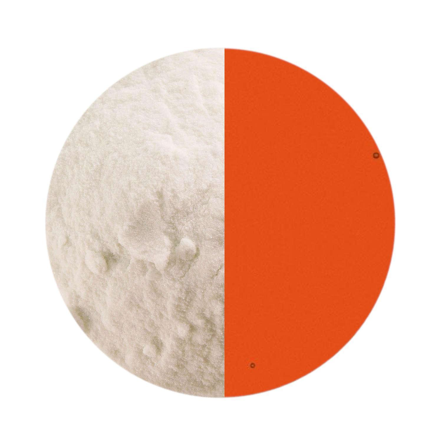 5 oz Light Orange Transparent Powder Frit - 90 COE