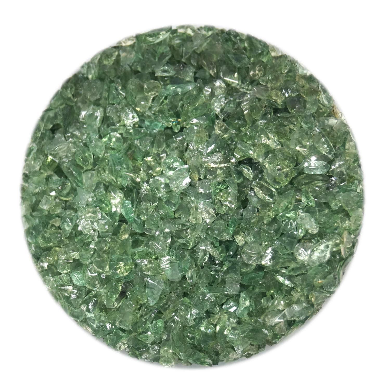 4 oz Transparent Green Coarse Frit - 33 COE