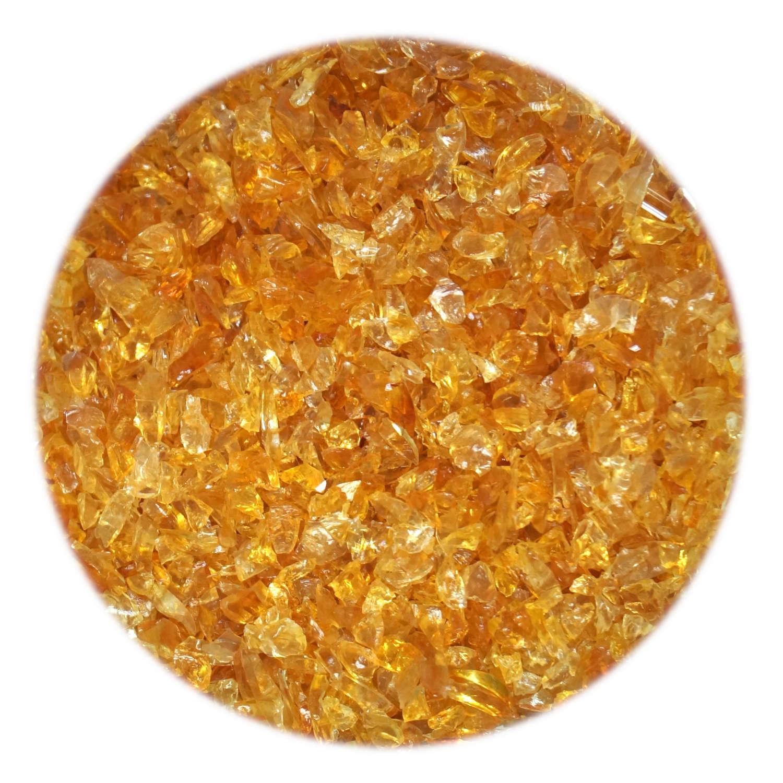 4 oz Double Amber, Purple Coarse Frit - 33 COE