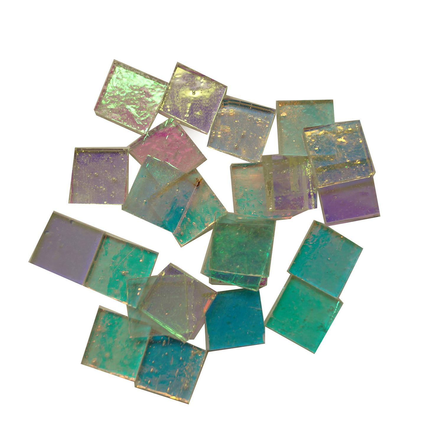 Fuseworks Clear Dichroic Squares 24 Piece Assortment - 90 COE