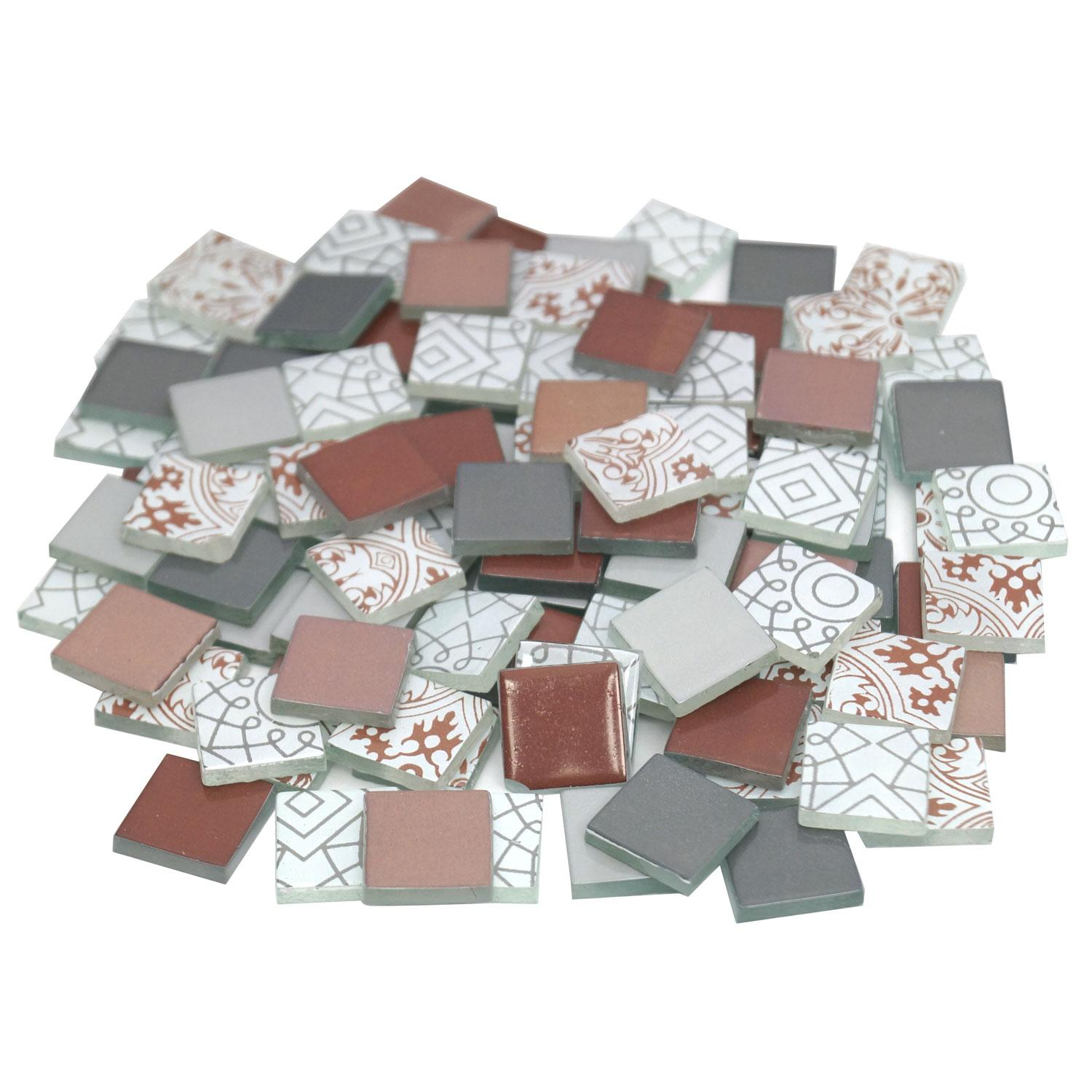 3/4 Berry Frost Patchwork Glass Tile Assortment - 1 lb